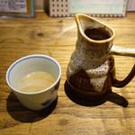 あめこや - 蕎麦湯 2015年3月