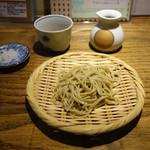 あめこや - 「2種盛りもりそば」富山県山田村産の10割蕎麦 2015年3月