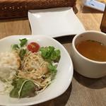 グレイスガーデン - ランチセットのサラダ&スープ