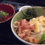 38664718 - 漬け鮪丼&ぶっかけうどん〜(^.、^)ノランチメニュ〜¥880円♪☆
