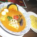 スープカリーバグース - アヤム(チキン)カレー(1,080円+50円)