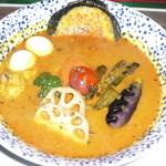 スープカリーバグース - アヤム(チキン)カレー 辛さ10番+チャベメラ(メr)