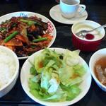 38675070 - 茨城県産茄子と豚細切り中華味噌炒めランチ