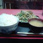 3868236 - 野菜炒め定食(ご飯大盛)