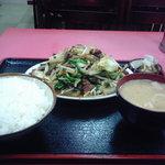 3868237 - レバ野菜炒め定食