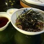そば処 東京 - 海苔たっぷり肉そば