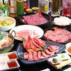 炭や 徳寿 - 料理写真:焼肉+もつ鍋プラン3450円
