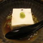 38683513 - 水無月豆腐~小豆の入ったゴマ豆腐