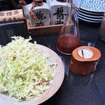 酒菜肉匠 ふるや - キャベツ・ドレッシング・オリジナル?岩塩