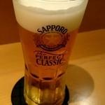 三海の華 - サッポロクラシックで乾杯