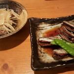 秀吉 - 鰯の煮付けと、鯵の南蛮漬け