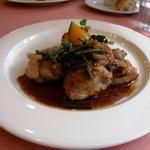 厨房セルポワ - 鳥もも肉のてりやきソース山菜のせ