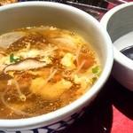 常陸牛ホルモン 焼肉玄匠 - 野菜玉子スープ