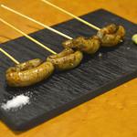 里芭歩樹 - マルチョウ(小腸)」早熟マンゴーソース