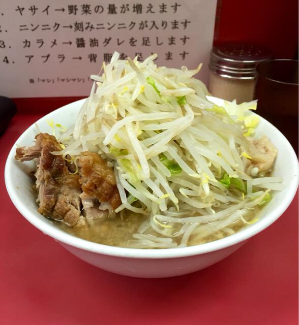 ラーメン二郎 小岩店 - ラーメン麺少なめ野菜