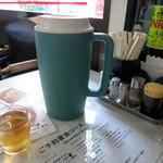 温州坊 - 暑い日だったので冷たいお茶が美味しい