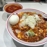 蒙古タンメン中本 - 樺太丼辛さ2倍と北極スープ、玉子サービス