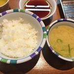 38696726 - 御飯&味噌汁(山の初定食1100円)♪