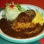 スノーラスカル - 料理写真:オムカレーハンバーグのせ