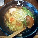 麺屋 あわざ - 【海老塩ラーメン + 味たまご】¥680 + ¥100