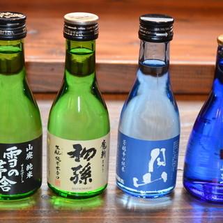 お酒は小瓶でお出しします。飲みきりサイズでご提供。