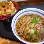 38714487 - かきあげ丼セット(590円)