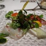 38721244 - 師崎産真鯛と三重産カツオのカルパッチョ