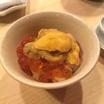 寿司処 黒杉 - 雲丹とイクラのミニ丼