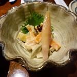 司 - いたどりと筍のゴマ酢和え