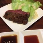 おにくやちゃんバー - 加古川牛 ランプステーキ^-^V