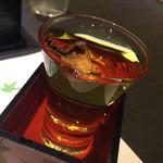 ふぐ好 - 冷やしひれ酒 美味しい〜(。 >艸<)