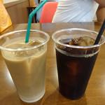 コダマ - アイスカフェオレM:380円とアイスコーヒーM:380円