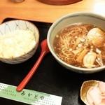 みかどや - 玉丼+中華そば