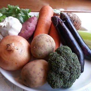 厳選した有機野菜を使用した自慢の料理