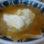 つづらそば - ほっこり湯葉の銀あんかけそば 餡におろし生姜、湯葉が美味しい