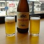 博多名代 吉塚うなぎ屋 - キリン一番搾り・中瓶(660円)