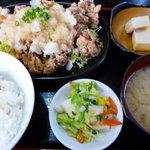 しれとこ食堂 - 唐揚げおろしポン酢定食