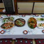 (有)カネマン魚店 - オードブル形式の料理例