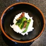 あみやき亭 - 炊きたて釜飯。