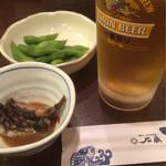 38743404 - 先づは枝豆とキビナゴの煮物から(^^)