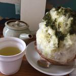日本茶カフェ一日 - 煎茶カキ氷