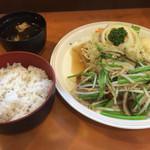38748541 - 野菜たっぷりとんかつ(ロース)