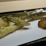 このは - ☆鮎天ぷら&野菜(*^^)v☆