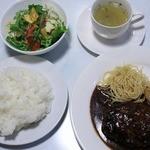 洋食屋 みさくぼ - 料理写真:ガーリックハンバーグ、GOOD!