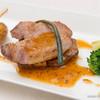 レストラン ル・プラトー - 料理写真:立科豚 ロースのポワレ 〜高原野菜を添えて〜(ランチ)【2015年5月】