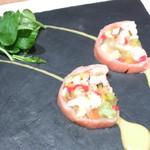 38752549 - スモークサーモンと野菜のテリーヌ パッションフルーツのソース