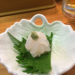 富士鮨 - 白エビの大根おろし添え