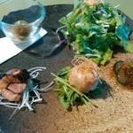 38754538 - 鴨肉の前菜