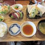 NOBU - おすすめランチA(地魚と海老のてんぷら)2015.06.06