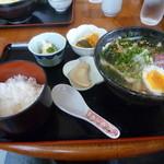 かよさん - 比内地鶏塩スープうどん定食 680円